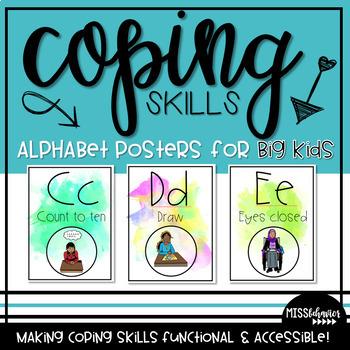 Coping Skills Alphabet Line - For Older Students