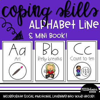 Coping Skills Alphabet Line and Mini-Book