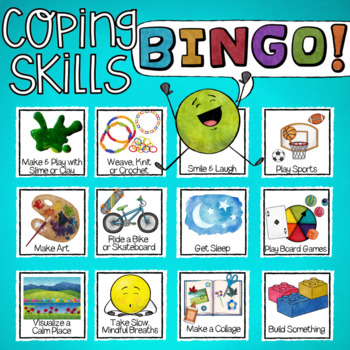 BINGO! A Coping Skills Lesson & Stress Management School Counseling Game