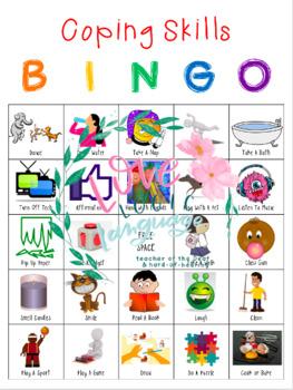 Coping Skills BINGO with 3 Game Versions: K-5th Grade