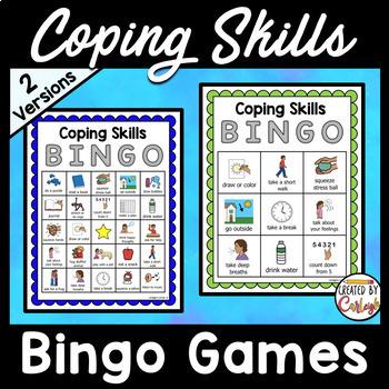 Coping Skills Bingo Game