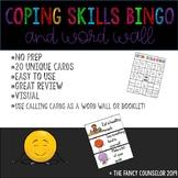 Coping Skills Bingo and WORD WALL  NO PREP