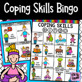 Coping Skills Bingo for Elementary School Counselors SEL
