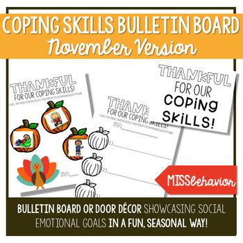 Coping Skills Bulletin Board - November Version