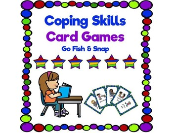 Coping Skills Card Game (Go Fish and Snap)