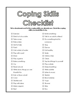 Rare image for free printable coping skills worksheets