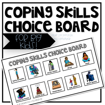Coping Skills Choice Board - For Older Students