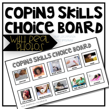 Coping Skills Choice Board - With Real Photographs