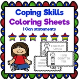Coping Skills Coloring Pages with I Can Statements