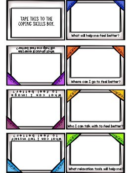Coping Skills Counseling Craft Activity: Snap Out of It