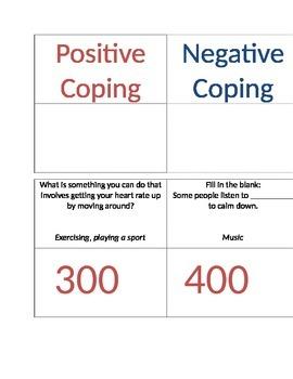 Coping Skills Jeopardy