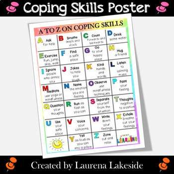Coping Skills Poster - Alphabet