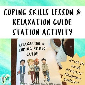 Coping Skills Powerpoint Lesson and Station Activity