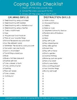 Coping Skills Sheet