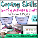 Coping Skills Sorting Activity & Craft: Negative and Positive