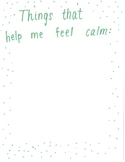 Coping Skills - Things That Help Me Feel Calm