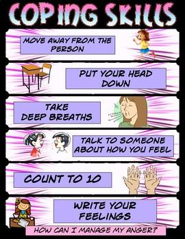 Coping Skills Visual (girl theme)