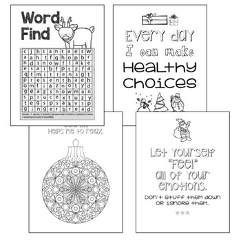 Coping Skills Activities and Coloring book