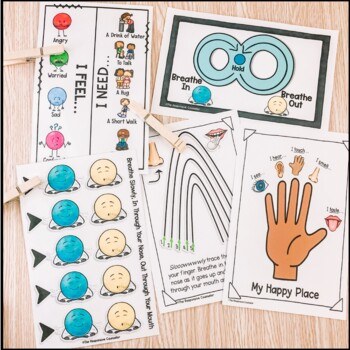 Calm Down Corner Lesson, Centers, and Visuals BUNDLE