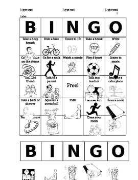 Coping Skills Bingo By Elementary Counseling Corner Tpt