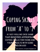 Coping Skills from A to Z: A Dice Game