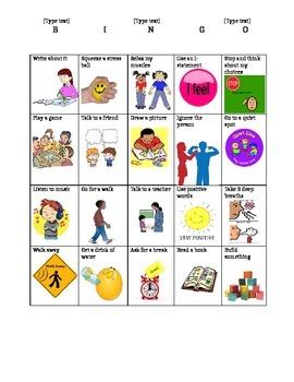 Coping Strategies Bingo