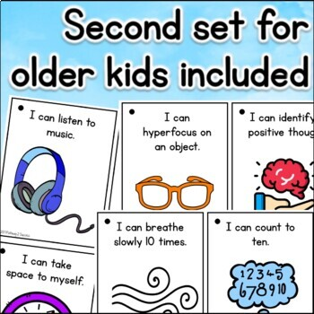 Coping Strategies Cards for Elementary