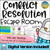 Conflict Resolution Escape Room - Digital Distance Learning Version Included