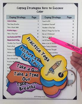 Coping Strategies Keys Craftivity