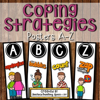 Calming Strategies Posters --- Calming & Coping Skills from A to Z