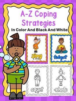 Calming Strategies Posters In Color And Black And White