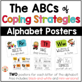 Coping Skills Posters | Coping Strategies Alphabet Cards