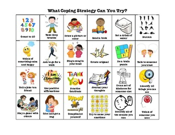 Coping Strategies Visual For Classroom