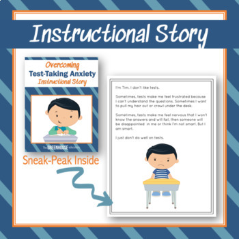 Social Story: Coping Strategies for Test Anxiety - a complete unit