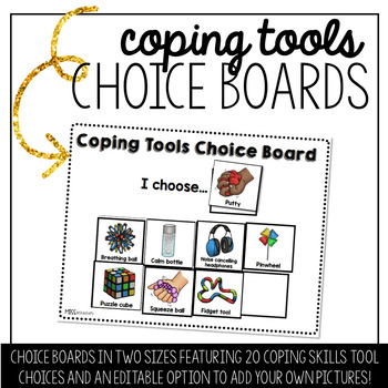 Coping Tools Choice Board - EDITABLE!