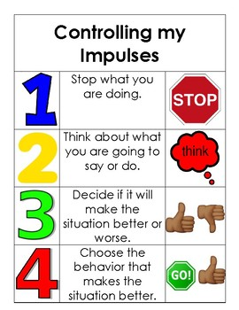 Coping Tools for Controlling Impulses