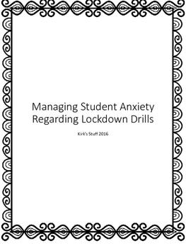 Lockdown Drills: Managing Student Anxiety
