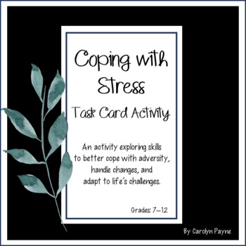 Coping with Stress Task Card Activity