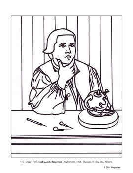 Copley, John Singleton. Paul Revere. Coloring page and lesson plan ideas