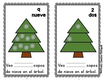 Copos de Nieve - Winter Emergent Reader in Spanish
