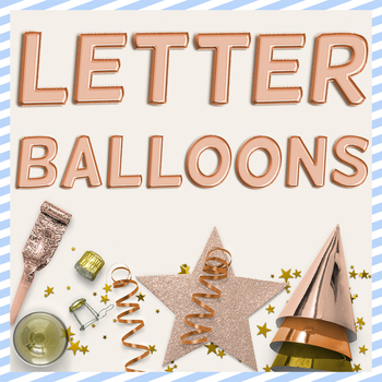 Copper Balloon PNG Letters
