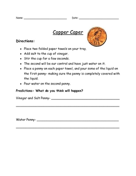 Copper Caper- Green Penny Lab