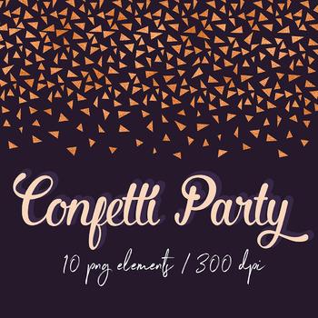 Copper Confetti Borders