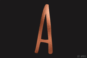 Copper Foil Alphabet Clip Art Metallic Look 81 PNG Images Letters Numbers