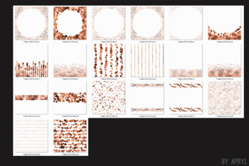 Copper Foil Confetti Overlays 20 PNG Clip Art for 12x12 Papers