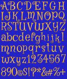 Copper Foil Digital Alphabet: 73 Letters, Numbers, Symbols