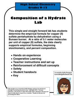 Copper (II) Sulfate Hydrate Lab - % composition