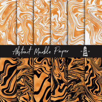 Copper Marbling Digital Paper, Copper Marble Backgrounds, Copper Liquid Textures