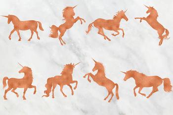 Copper & Rose Unicorn Clipart