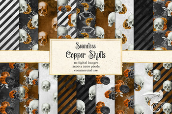Copper Skull Digital Paper